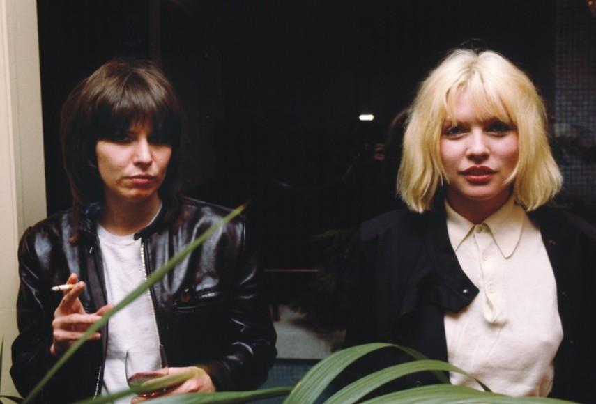 Chrissie Hynde e Debbie Harry em 1980, por Chris Stein
