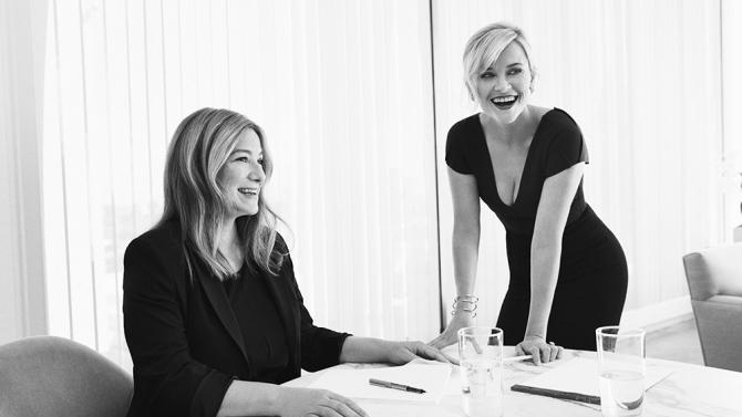Bruna Papandrea e Reese Witherspoon, da produtora Pacific Standard