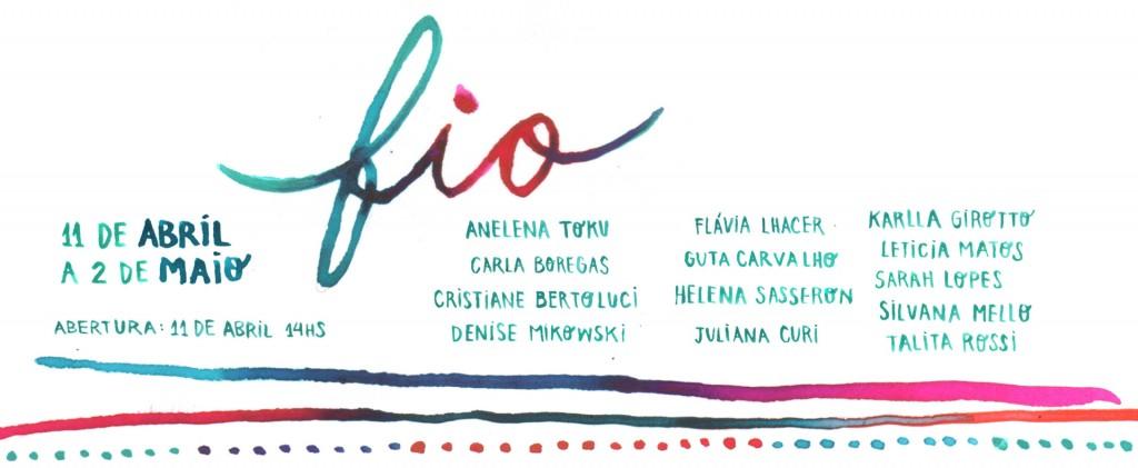 """Exposição """"FIO"""", na Casa SINLOGO (2015)"""