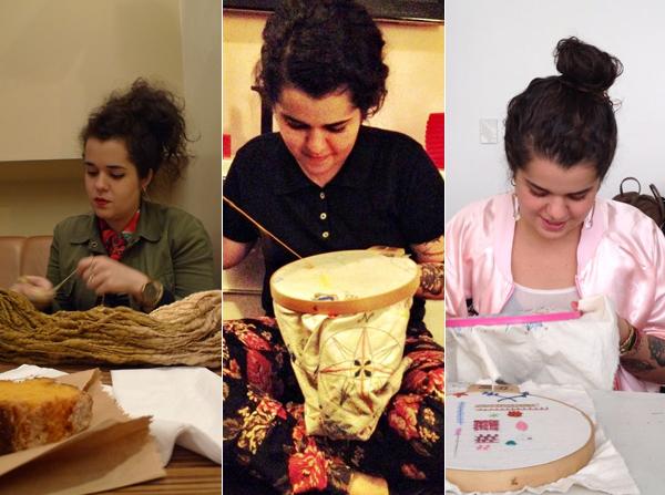 Flávia Lhacer e seus bordados: 'É um processo diário'