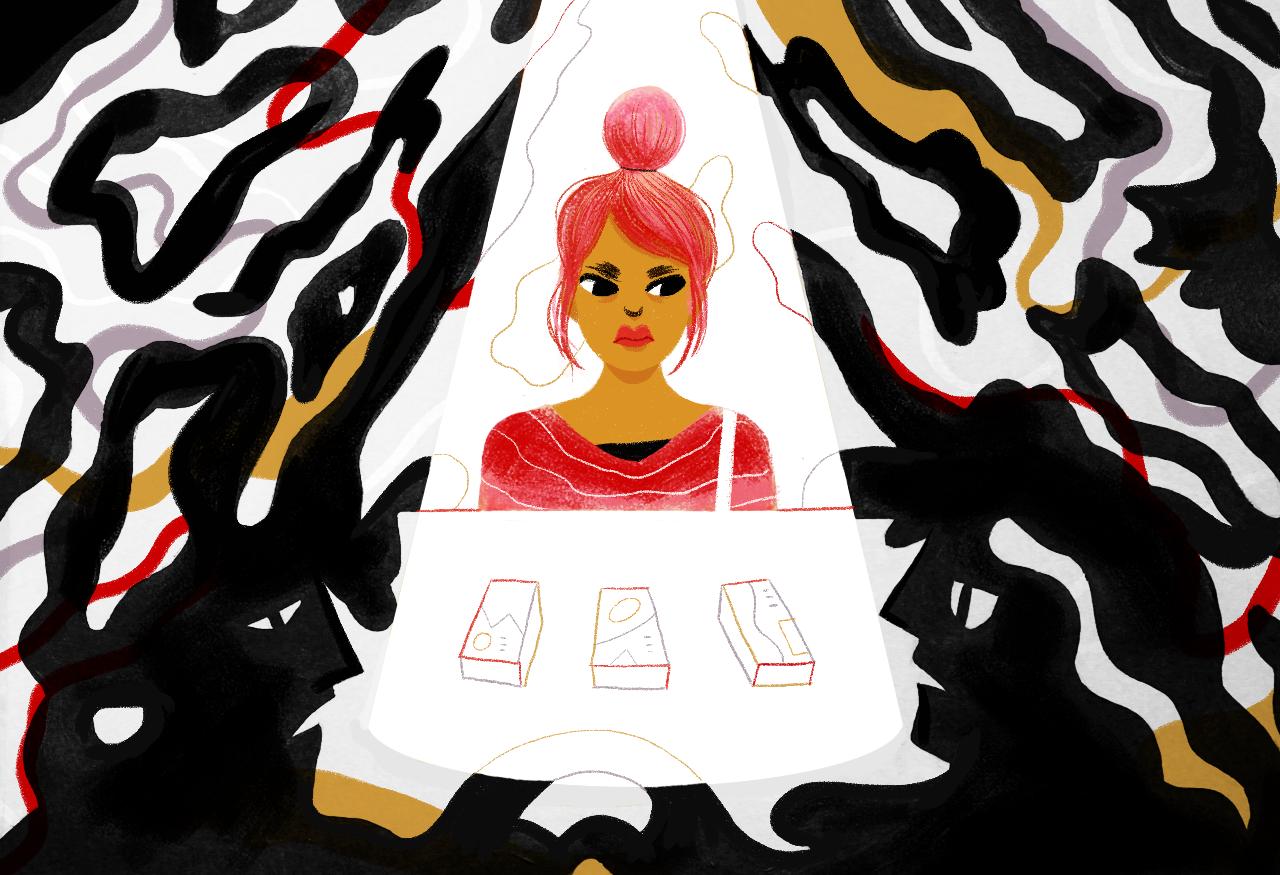 Ilustração por Marcella Tamayo exclusivamente para a Ovelha