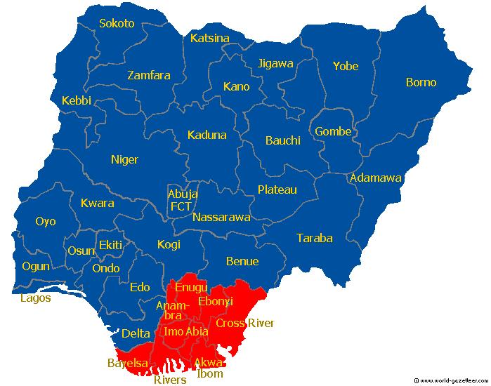 Biafra em vermelho :(