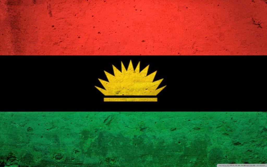 Meio sol amarelo na bandeira de Biafra