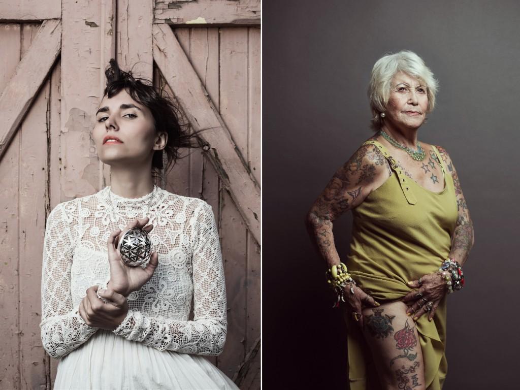 Julia realmente fotografa mulheres anônimas interessantíssimas, como Luna e Judith.
