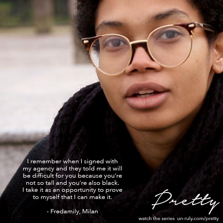 Citação da Fredamily, que foi entrevistada em Milão.