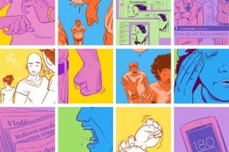 Ilustrações retiradas do Dossiê Violência Contra Mulheres