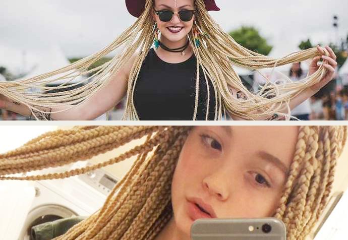garotas brancas são consideradas estilosas por usarem box braids