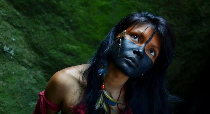 A cantora maranhense Zahy Guajajara. Foto: George Magaraia