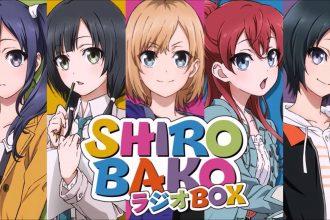 As protagonistas de Shirobako: Imai Midori, Yasuhara Ema, Aoi Miyamori, Sakaki Shizuka e Toudou Misa