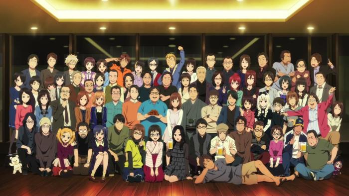 Quantas pessoas fazem um anime? Bem, muitas.