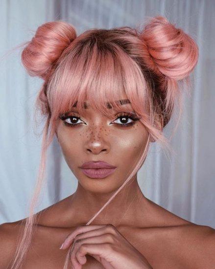 A modelo e blogueira Nyané Lebajoa