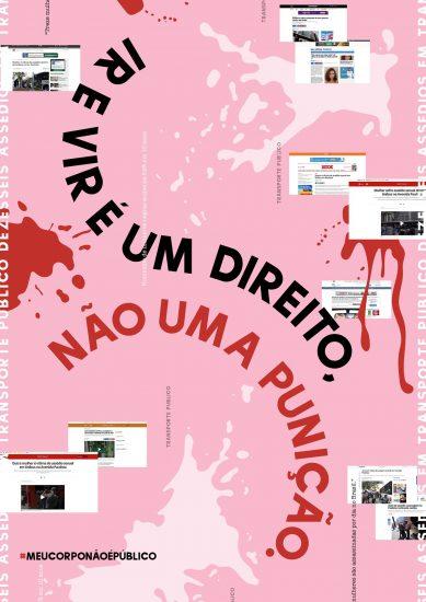 Arte de Lara Roncatti, texto criado colaborativamente pelo grupo Mad Women